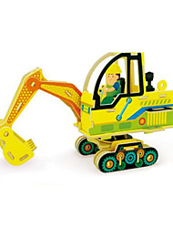 cheap -RUOTAI 3D Puzzle Vehicles Excavating Machinery Wood 1pcs Excavator Kid's Adults' Gift