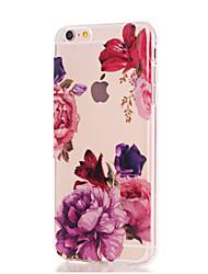 preiswerte -Hülle Für Apple iPhone X iPhone 8 iPhone 8 Plus Ultra dünn Transparent Muster Rückseitenabdeckung Blume Weich TPU für iPhone X iPhone 8