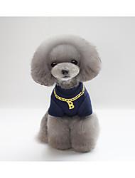 preiswerte -Katze Hund T-shirt Hundekleidung Party Lässig/Alltäglich Neujahr Buchstabe & Nummer Grau Rot Blau Kostüm Für Haustiere