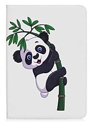 preiswerte -Hülle Für Samsung Galaxy Tab A 9.7 Ganzkörper-Gehäuse Tablet-Hüllen Panda Hart PU-Leder für