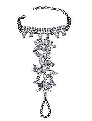 abordables -Femme Bracelet de cheville/Bracelet Émeraude Alliage Bijoux Fantaisie Costume Forme de Cercle Forme Géométrique Bijoux Pour Soirée