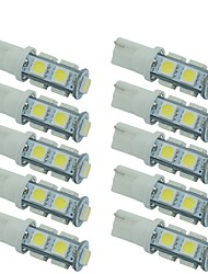 10pcs T10 5050 9SMD W5W Light Auto LED Bulbs Lamp Wedge Interior Light White Color DC12V