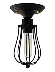 cheap -Industrial Vintage Ceiling Light Style Metal Cage Shade Art Painted Finish Fixture