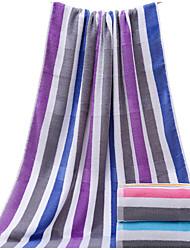 Недорогие -Свежий стиль Банное полотенце,В полоску Высшее качество 100% хлопок Полотенце