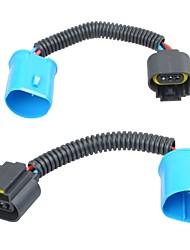 2 * 9007 a h13 conversor de farol cablagem de fio de conector de conexão de porco se encaixa ford dodge