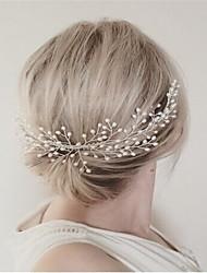 Imitation Pearl Alloy Hair Combs Headpiece Classical Feminine Style