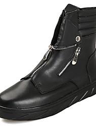 cheap -Men's PU(Polyurethane) Spring / Fall Comfort Boots Black / Red / Black / White