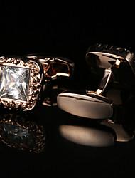 Недорогие -Геометрической формы Золотой Запонки Узор Муж. Бижутерия Назначение
