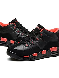 Homme Chaussures Polyuréthane Printemps Automne Semelles Légères Basket Lacet Pour Décontracté Noir et Or Noir/blanc Noir/Rouge Noir /