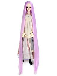 Mulher Perucas sintéticas Sem Touca Muito longo Kinky Liso Rosa boneca peruca Peruca para Fantasia