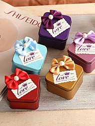 fer cubique (nickelé) support de faveur avec bow faveurs de mariage faveurs de mariage