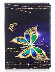 бабочка шаблон карты держатель кошелек с подставкой флип магнитный кожаный чехол pu для Samsung Galaxy Tab s2 8,0 t710 t715 8,0-дюймовый