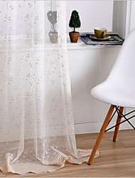 cheap -Sheer Curtains Shades Bedroom Embroidery Embroidery