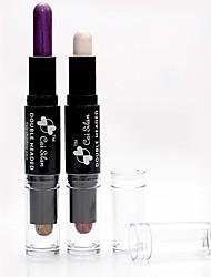 abordables -12pcs Non Testé sur des Animaux / Sans Alcool Mélange / Sec / Normal Fards à Paupières Maquillage Smoky-Eye / Maquillage Œil de Chat /