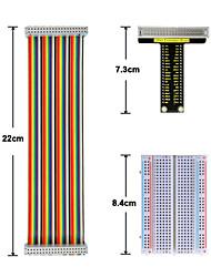 cheap -Raspberry Pi V1 Board40P Colorful Ribbon Cable400-Hole Breadboard