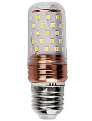 1 Pça. 6W E27 Luzes de LED em Vela 60 leds SMD 2835 Decorativa Branco Quente Branco Cor da fonte de luz dupla *lm 6000-6500  /3000-3500K