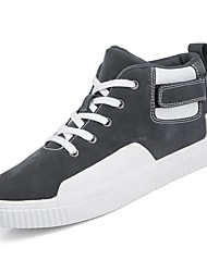 cheap -Men's Shoes PU Winter Comfort Sneakers Black / Gray