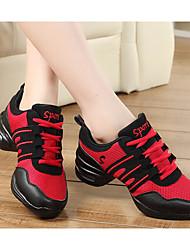 abordables -Femme Baskets de Danse Tulle Talon Entraînement Noir et Or Noir/Rouge Rouge/Blanc