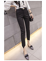 cheap -Women's High Rise Micro-elastic Skinny Business Pants,Casual Solid Summer