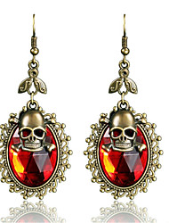 cheap -Women's Drop Earrings Cubic Zirconia Vintage Personalized Rhinestone Alloy Skull Jewelry For Halloween Going out