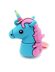 abordables -32 gb usb 2.0 cartoon unicorn horse usb unidad flash disco lindo memory stick pen drive regalo pen drive