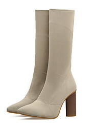 economico -Da donna Scarpe Raso elasticizzato Autunno Inverno Comoda Innovativo Stivali Stivaletti alla caviglia Stivaletti Quadrato Appuntite