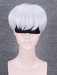 Women Synthetic Wig Capless Short Wavy Creamy-white Natural Hairline With Bangs Party Wig Halloween Wig Cosplay Wig Natural Wigs Costume