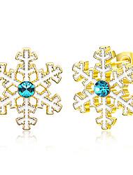 abordables -Mujer De Gran Tamaño Copo de Nieve Pendientes cortos - De Gran Tamaño / Importante / Moda Dorado / Plata / Oro Rosa Aretes Para Navidad /
