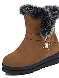 Women's Shoes Nubuck leather Fall Winter Fur Lining Snow Boots Bootie Boots Platform Round Toe Booties/Ankle Boots Imitation Pearl Buckle