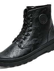 Men's Shoes Rubber Fall Winter Combat Boots Boots Lace-up For Outdoor Brown Gray Black
