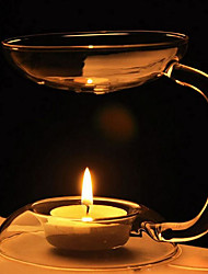 European-Style Aromatherapy Lamp With A Transparent Glass Candle Holder