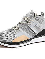 Men's Shoes Tulle Spring Fall Comfort Athletic Shoes Walking Shoes For Casual Army Green Gray Black