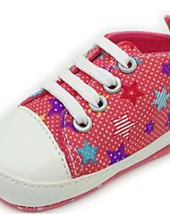 Bébé Chaussures Toile Printemps Automne Confort Premières Chaussures Ballerines Pour Décontracté Arc-en-ciel Rouge Bleu Bleu clair