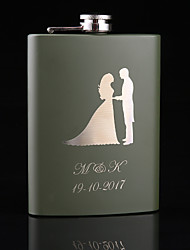 cheap -Her Him Bride Bridesmaid Groomsman Couple Parents Friends Stainless Steel / Iron Hip Flasks