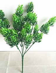 32cm 3 pcs décoration de la maison plantes vertes artificielles pin branche