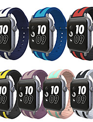 cheap -Watch Band for Apple Watch 3 Series 1 2 Silicone Camouflage Replacement Sport Strap with Adapter 38mm 42mm