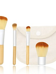 cheap -YZIMENG® 4pcs Makeup Brushes Set Cosmetic Bag Foundation/Concealer/Blush/Shadow Synthetic Hair Wood Professional Cosmetic for Face
