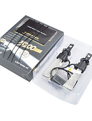 cheap -2 x H7  Headlamp 40W 6400LM SUV Head front lamp F2 Car LED Work Bulb Light