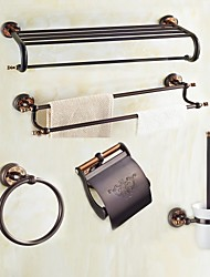 cheap -Bathroom Accessory Set Modern Style Oil-rubbed Bronze Wall Mounted