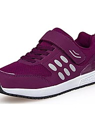 cheap -Women's Shoes Breathable Mesh Pigskin Suede Spring Fall Comfort Athletic Shoes Flat Heel Round Toe Lace-up For Casual Red Purple Gray