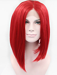 cheap -Synthetic Lace Front Wig Straight Synthetic Hair Red Wig Women's Short Cosplay Wig / Natural Wigs / Lolita Wig Lace Front