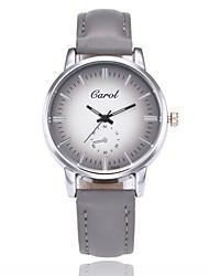 abordables -Hombre Mujer Reloj de Pulsera Reloj de Vestir Reloj de Moda Chino Cuarzo Gran venta PU Banda Casual Negro Marrón Gris Rosa Color Beige