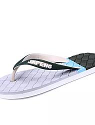 economico -Da uomo Scarpe PU (Poliuretano) Estate Comoda Pantofole e infradito Per Casual Marrone White/Blue Bianco e verde