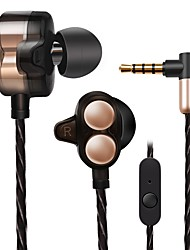 X7 In Ear Wired Headphones Dynamic Aluminum Alloy Mobile Phone Earphone Dual Drivers with Microphone Ergonomic Comfort-Fit Headset