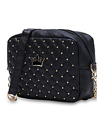 cheap -Women's Bags PU Crossbody Bag Beading for Shopping Black / Blushing Pink / Purple