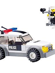 baratos -Blocos de Construir 69pcs Veículos / Militar / Policial Carro de Polícia / Carro Escala Paredes Para Meninos Dom