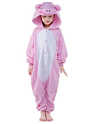 Kigurumi Pajamas Piggy/Pig Costume Pink Polar Fleece Leotard / Onesie Cosplay Festival / Holiday Animal Sleepwear Halloween Solid For Kid