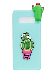 """economico -Custodia Per Samsung Galaxy Note 8 Fantasia/disegno Fai da te Custodia posteriore Fantasia """"Cartone 3D"""" Fiore decorativo Morbido TPU per"""
