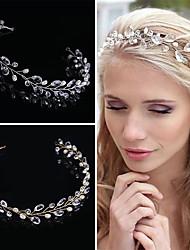 imitación de cristal perlas tiaras diademas estilo elegante