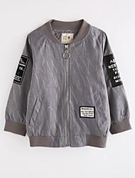 cheap -Boys' Solid Jacket & Coat,Cotton Fall Long Sleeve Gray